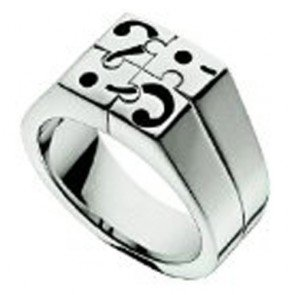 Anneau Moschino MJ0168 I Love Puzzles Size 21mm Homme