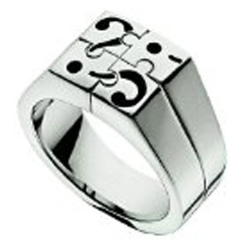 Ring Moschino MJ0168 I Love Puzzles Size 21mmman
