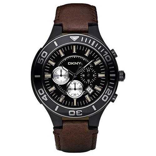 Uhr DKNY Donna Karan NY1455 Chronograph Leder Herren