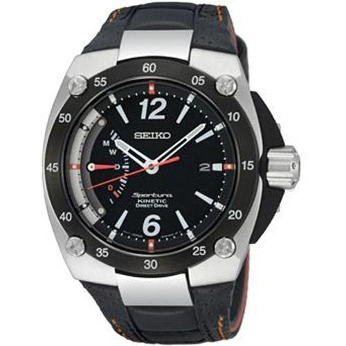 Reloj Seiko Sportura SRG005P2 Kinetic Piel Hombre