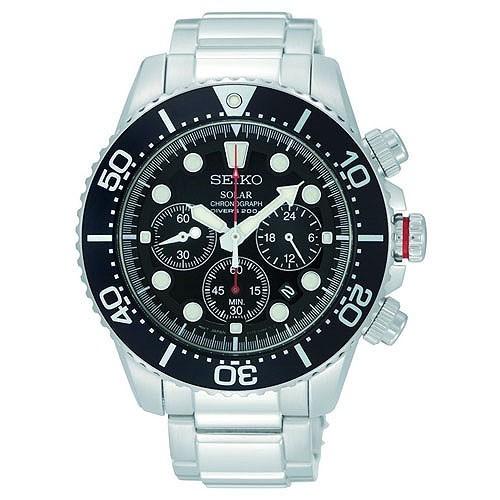 Seiko Watch Solar Divers SSC015P1 Steel Man