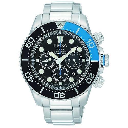 Seiko Watch Solar Divers SSC017P1 Steel Man