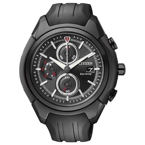 Citizen Watch Eco Drive Chromo-Graph CA0285-01E Rubber Man