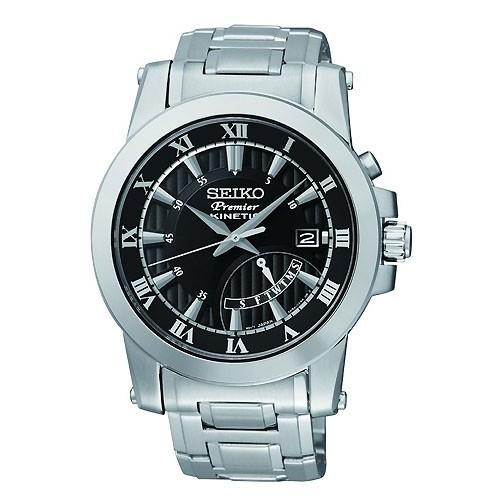 Reloj Seiko Premier SRN039P1 Kinetic Acero Hombre