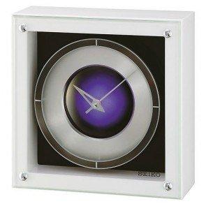 Table Clock Seiko LED QXV001W 208 X 208 X 81mm