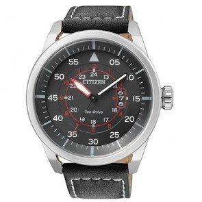 Citizen Watch Eco Drive Aviator AW1360-04E Leather Man