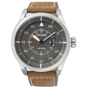 Citizen Watch Eco Drive Aviator AW1360-12H Leather Man