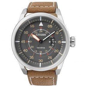 Reloj Citizen Eco Drive Aviator AW1360-12H Piel Hombre