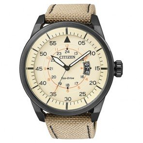 Citizen Watch Eco Drive Aviator AW1365-19P Web Man