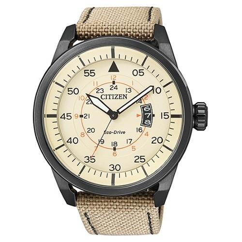 Reloj Citizen Eco Drive Aviator AW1365-19P Tela Hombre