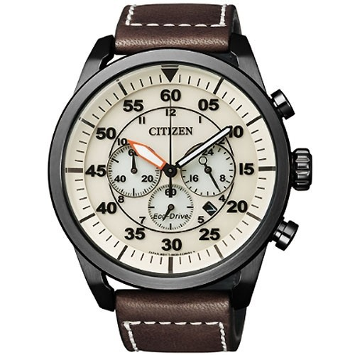 Citizen Watch Eco Drive Aviator CA4215-04W Leather Man