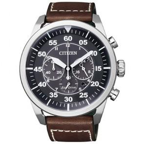 Reloj Citizen Eco Drive Aviator CA4210-16E Piel Hombre