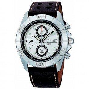 Seiko Watch SNA661 Chronograph Leather Man