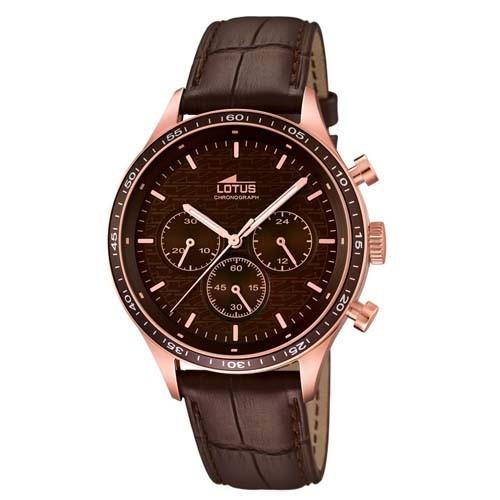 Lotus Watch Minimalist 15966-2 Chronograph Leather Man