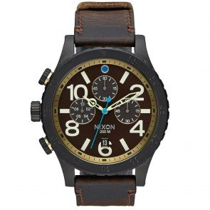 Nixon Watch A3632209 The 48-20 Chronograph Leather Man