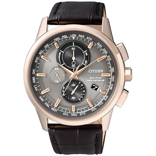 Citizen Watch Eco Drive Radio Controlled AT8113-12H Leather Man