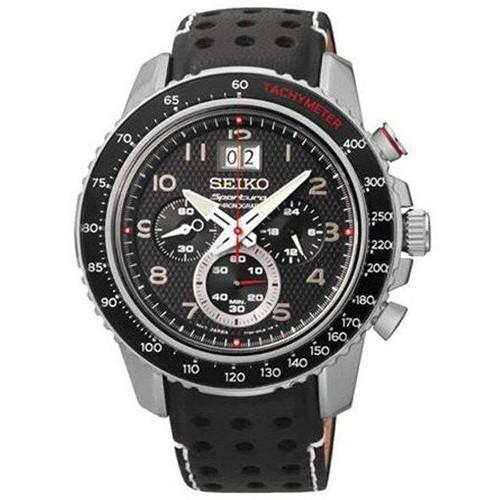 Seiko Watch Sportura SPC139P1 Chronograph Leather Man